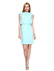 TS Couture® Cocktail Party Dress - Ivanka Style / Celebrity Style Sheath / Column Bateau Short / Mini Polyester with Draping