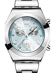 Женские Спортивные часы Нарядные часы Модные часы Наручные часы Повседневные часы Защита от влаги С тремя часовыми поясами Цветной