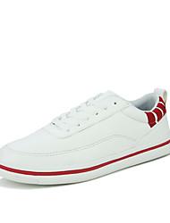 Femme-Décontracté / Sport-Noir / Rouge / Blanc-Talon Plat-Confort-Sneakers-Similicuir