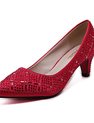 Women's Heels Fall Others Synthetic Dress Stiletto Heel Sparkling Glitter Red White Champagne