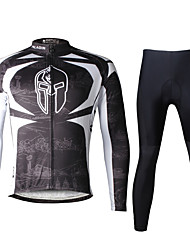 Ilpaladin Sport Men Long Sleeve Cycling Jerseys Suit CT009