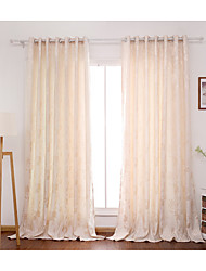 Two Panels CurtainFlower Bedroom Polyester Material Curtains Drapes Home Decoration For Window