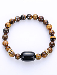 The New 2016 Natural Yellow Tights's Eye Bracelet Wholesale Hand String Of Jade Stones Personality Retro Tiger Eye Stone