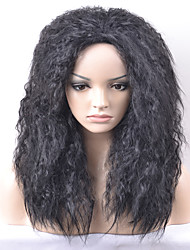 Europe and the United States Women New Year Black Kinky Curly Afro High Temperature Wire Wig