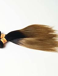Омбре Индийские волосы Прямые 12 месяцев 1 шт. волосы ткет