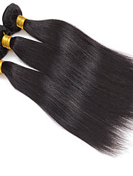 3Pcs/Lot 8-30inch Peruvian Virgin Straight Hair Natural Black Human Hair Weave Low Price Sale.