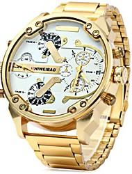 Masculino Relógio Esportivo / Relógio Militar / Relógio Elegante / Relógio de Moda / Relógio de Pulso QuartzCalendário / Dois Fusos