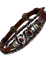 Bracelet Loom Bracelet / Wrap Bracelet Others / Alloy / Leather Fashion / Adjustable / Hip-Hop / Personalized / RockBirthday / Gift /