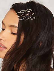 Women's Simple Moon Shape Hairpin Fashion Geometric Semicircular Metal Unique Design Hair Accessories  2Piece