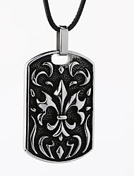 Ожерелье Без камня Ожерелья с подвесками Бижутерия Для вечеринок / Повседневные С логотипом / Панк Титановая сталь Мужчины 1шт Подарок