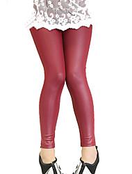 Girls Fashion Han Edition Joker Thin Leather Leggings