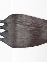 4 Pieces  Human Hair Weaves Brazilian Virgin Silk Straight Hair Extension