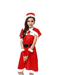 Hats Cloak Party Costume Fairytale Santa Suits Festival/Holiday Halloween Costumes Red Solid Shawl Hats Halloween Carnival Female Pleuche