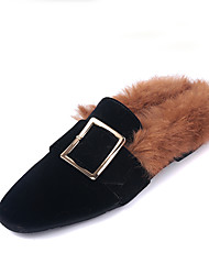 Women's Flats Winter Comfort Fur Casual Flat Heel Others Black Gray Royal Blue Others