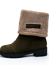 Women's Snow Boots Thick Multi-way Winter Comfort Suede Dress / Casual Chunky Heel Slip-on