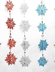 Colored Christmas Snowflake Bunch Of 2 Meters Long 10 Snowflake