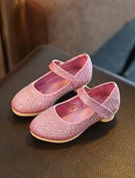 Girl's Flats Comfort PU Dress Pink Silver Gold