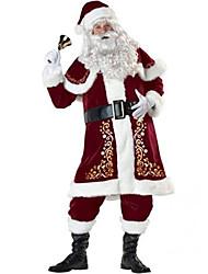 Fantasias de Cosplay Ternos de Papai Noel Cosplay de Filmes Vermelho Cor Única Blusa / Calças / Xale / Luvas / Cinto / Chapéus Natal