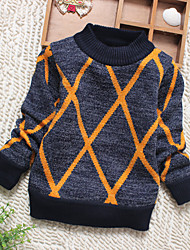 Girl Casual/Daily Striped Blouse,Cotton Winter Long Sleeve