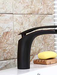 Antique Widespread Single Handle One Hole in Oil-rubbed Bronze Bathroom Sink Faucet