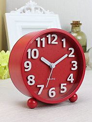 Alarm Clock with Matel Case In Red Color Silent Movment Night Light