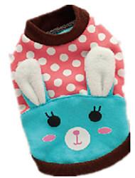 Hunde Pullover Blau Rosa Hundekleidung Winter Frühling/Herbst Karton Niedlich