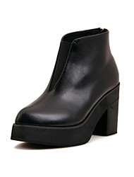 Women's Boots Others PU Outdoor Low Heel Black Others