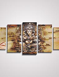 Холст Set / Unframed Холст печати Абстракция / Животное Modern / Реализм,5 панелей Холст Горизонтальная Печать Искусство Декор стены For