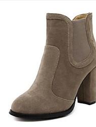 Women's Boots Comfort Suede Casual Black Brown