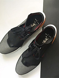 Women's Sneakers Others Fabric Outdoor Casual Athletic Black Red White