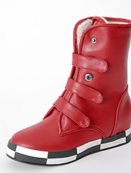 Women's Boots Fall / Winter Others Leatherette Office & Career / Dress / Casual Wedge Heel Black / Red / Silver Others
