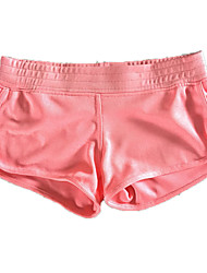 Pantalon de yoga Cuissard  / Short / Bas Respirable / Confortable Taille moyenne Extensible Vêtements de sport Rose dragée Femme Sportif