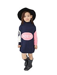 Menina Suéter & Cardigan Casual Xadrez Inverno / Primavera / Outono Pêlo Sintético / Algodão Manga Longa