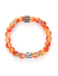 Bracelet Strand Bracelet Gem Halloween Birthday Congratulations Business Gift Party Daily Casual Sports Jewelry Gift Silver Orange,1pc