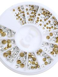 200pcs/Box Mix 3 Size Nail Art Decoration Rhinestone Pearls Makeup Cosmetic Nail Art Design