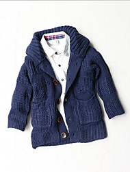 Casual/Daily Solid Sweater & Cardigan,Cotton Acrylic Winter Fall Long Sleeve Regular