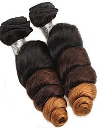 A Ombre Cheveux Brésiliens Ondulation Lâche 6 Mois tissages de cheveux