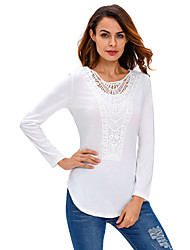 Women's Crochet Front Long Sleeve Top