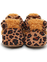 Girl's Baby Loafers & Slip-Ons First Walkers Crib Shoes Fleece Casual Leopard