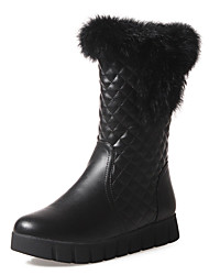 Women's Fall / Winter / Fashion Boots/Snow Boots /Round Toe/ Platform /Office & Career/ Dress Fur