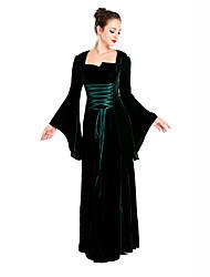 Fest/Feiertage Halloween Kostüme Schwarz Druck Kleid Halloween / Weihnachten / Karneval / Silvester / Oktoberfest / Kindertag Frau