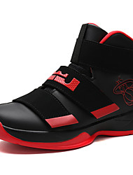 Big Size Men's Athletic Shoes Fashion Basketball Shoes Comfort High Top Leather Shoes Casual Flat Heel Hook & Loop EU39-44