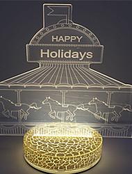 2016 venta caliente más nuevo efecto llevó la lámpara de la noche 3d 2w navidad