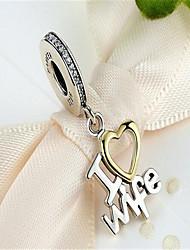 Colliers Tendance / Pendentif Bijoux Quotidien / Décontracté Mode / Incrusté Argent sterling Femme 1pc Cadeau Argent
