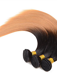 A Ombre Cheveux Brésiliens Droit 1 Pièce tissages de cheveux