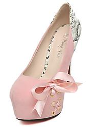 Women's Heels Slip-on Lace Round Toe Platform Stiletto Heel/Pumps 6.3 Inch Heel Sexy Party & Evening/WeddingShoes