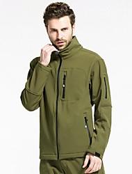 Men Outdoor Sports Soft Shell Fleece Jacket Hiking Cimbing Clothing Jackets Spring Autumn Casual Jacket Waterproof Coat  Fashion Overcoat