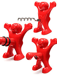 3 Pcs Little Happy Man Red Bottle Opener Kitchen Bar Fun Beer Soda Novelty Wine Opener
