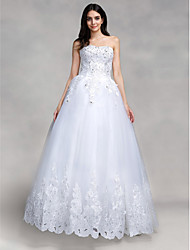 Ball Gown Wedding Dress Sparkle & Shine Floor-length Sweetheart Tulle with Appliques Sequin