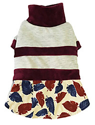 Dog Dress Dog Clothes Winter Spring/Fall Stripe Casual/Daily